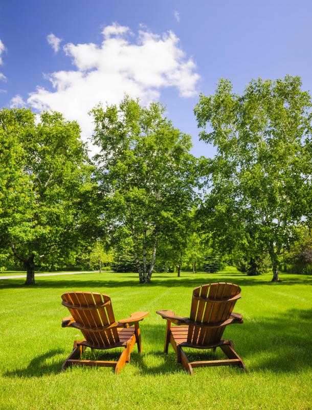 Aeration helps keep a lawn from looking thin and brown.
