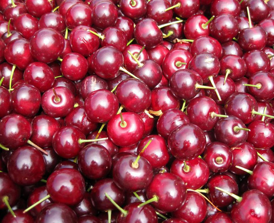 Cherries are a good source of vitamin C.