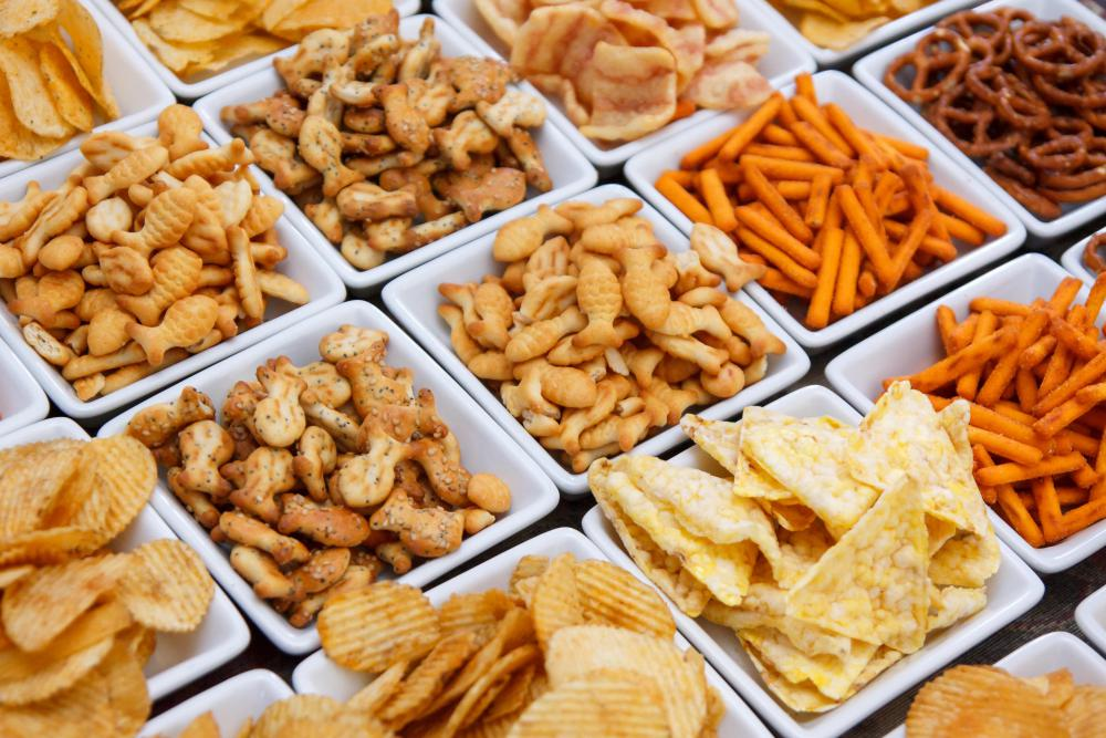 Avoiding salty snacks can help to reduce blood pressure.