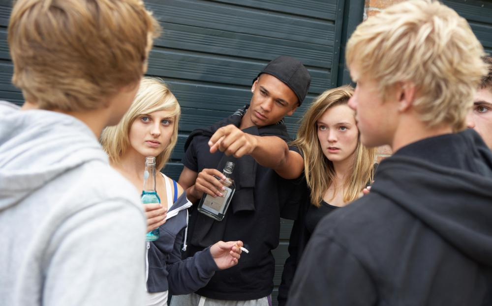 Peer pressure occurs when adolescents copy the thoughts and beliefs of their peers in order to fit in.