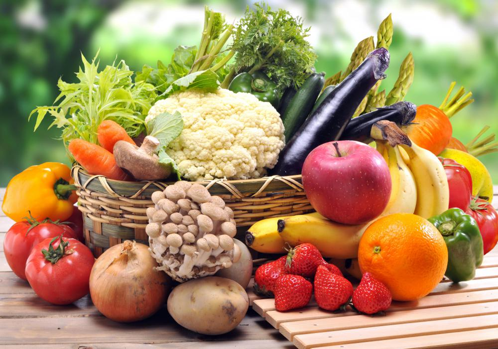 Modern farms work hard at producing large quantities of fruits and vegetables.