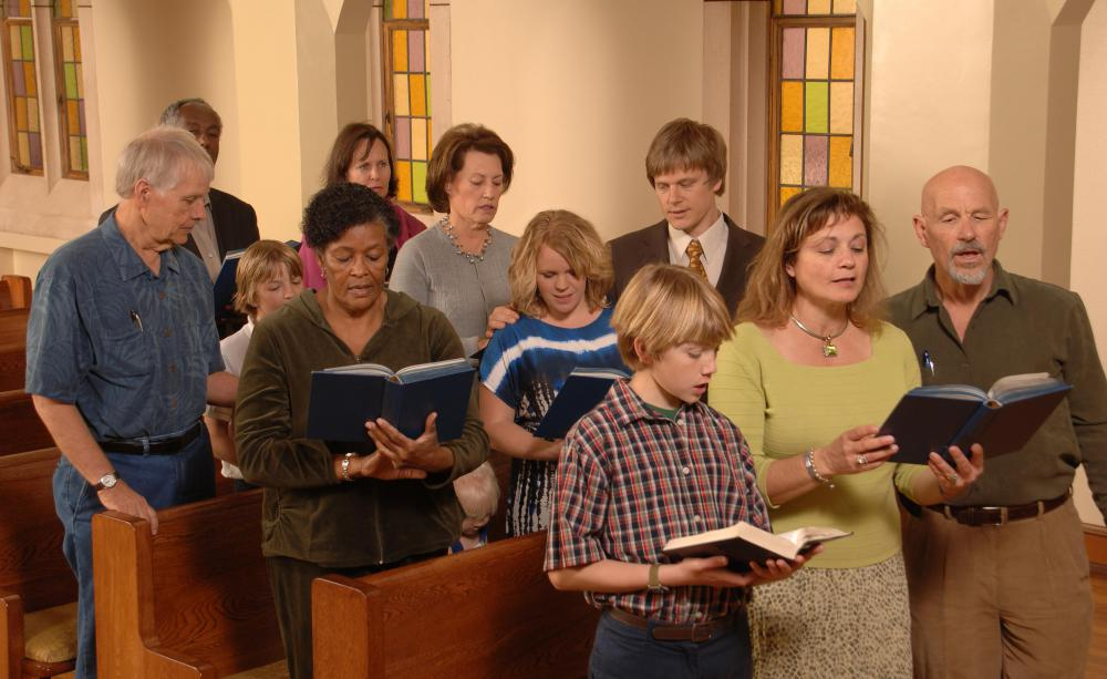 Both organs and pianos are used to lead church congregations in the singing of hymns and other worship songs.