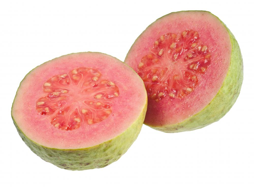 Guavas are considered a healthy fruit.