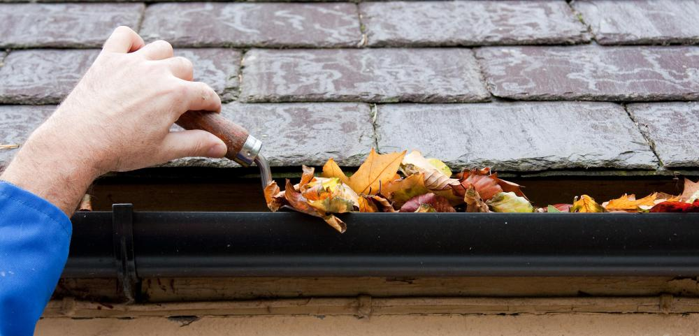 Leaf blowers might be used to help remove debris from gutters.