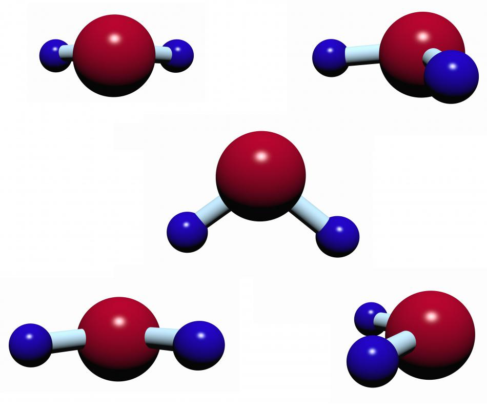 Its small molecules give water a low viscosity.