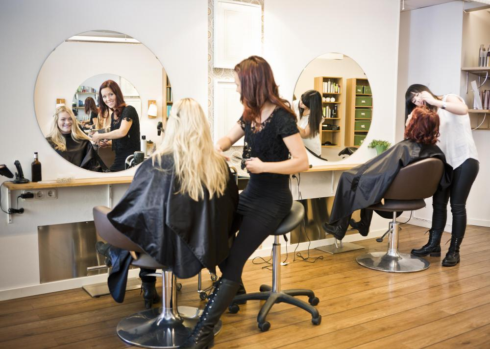 A salon offers hair services.