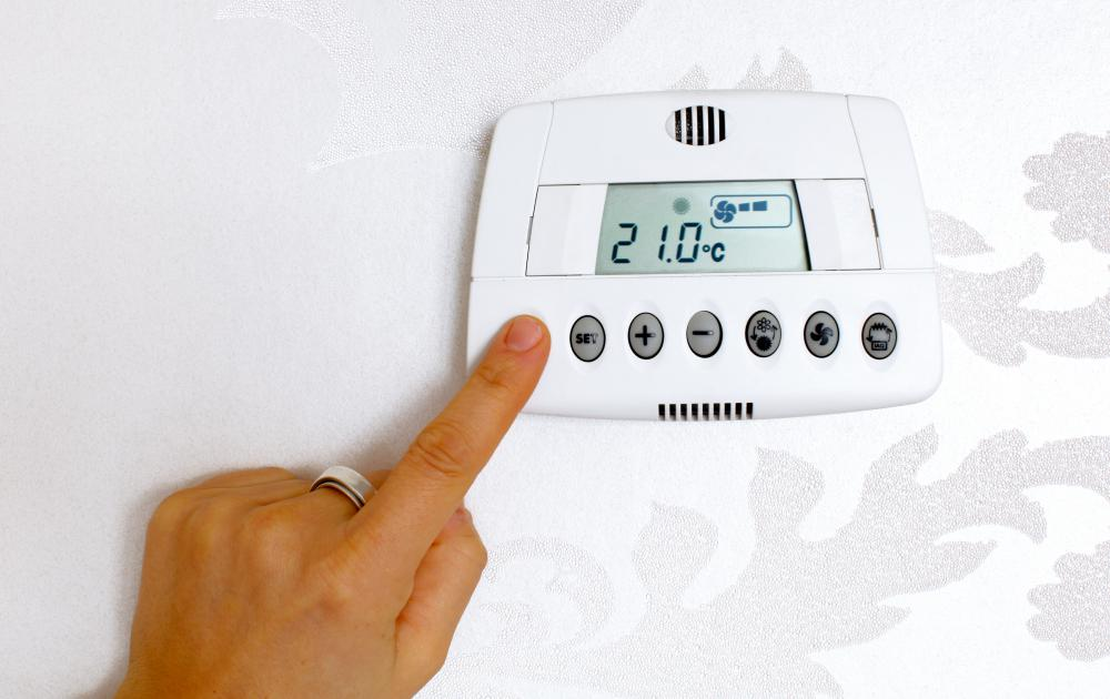Many buildings have thermostats from which the ambient temperature can be adjusted.