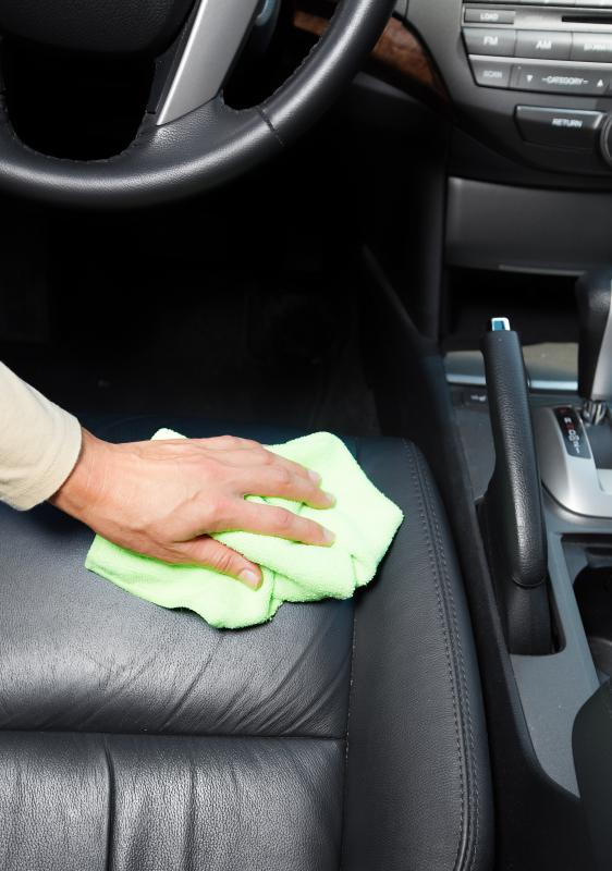 A leather interior is easy to clean but requires care to maintain.