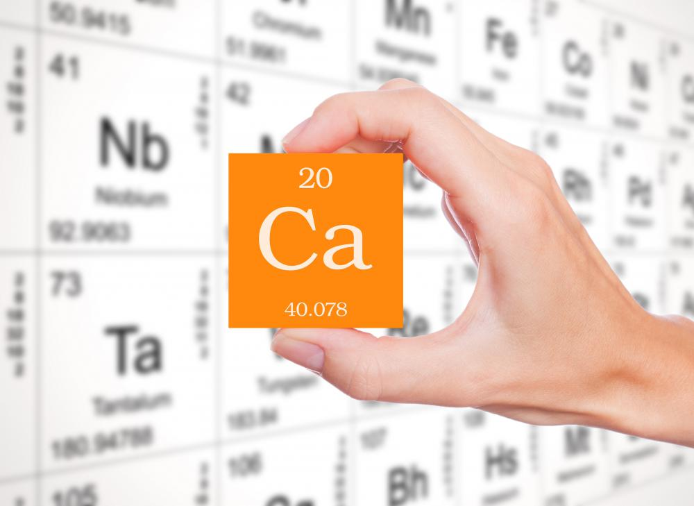 "Calcium is abbreviated to ""Ca"" on the periodic table of the elements and has an atomic number of 20."