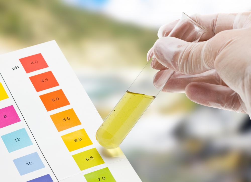 The pH can be determined by adding chemical agents to a sample.