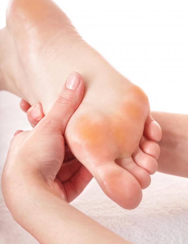 Individuals suffering from diabetic neuropathy may have trouble feeling pain in their feet.