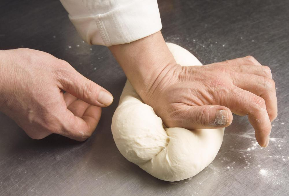 Bakers can get a repetitive strain injury from kneading dough.