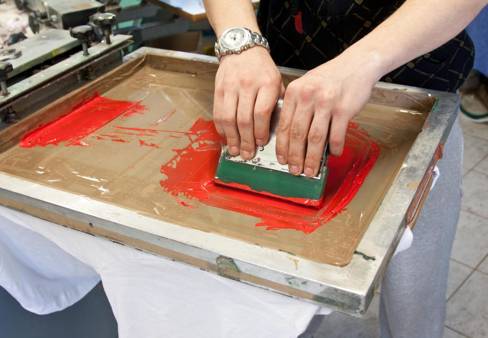 Screen printing is a form of printmaking.