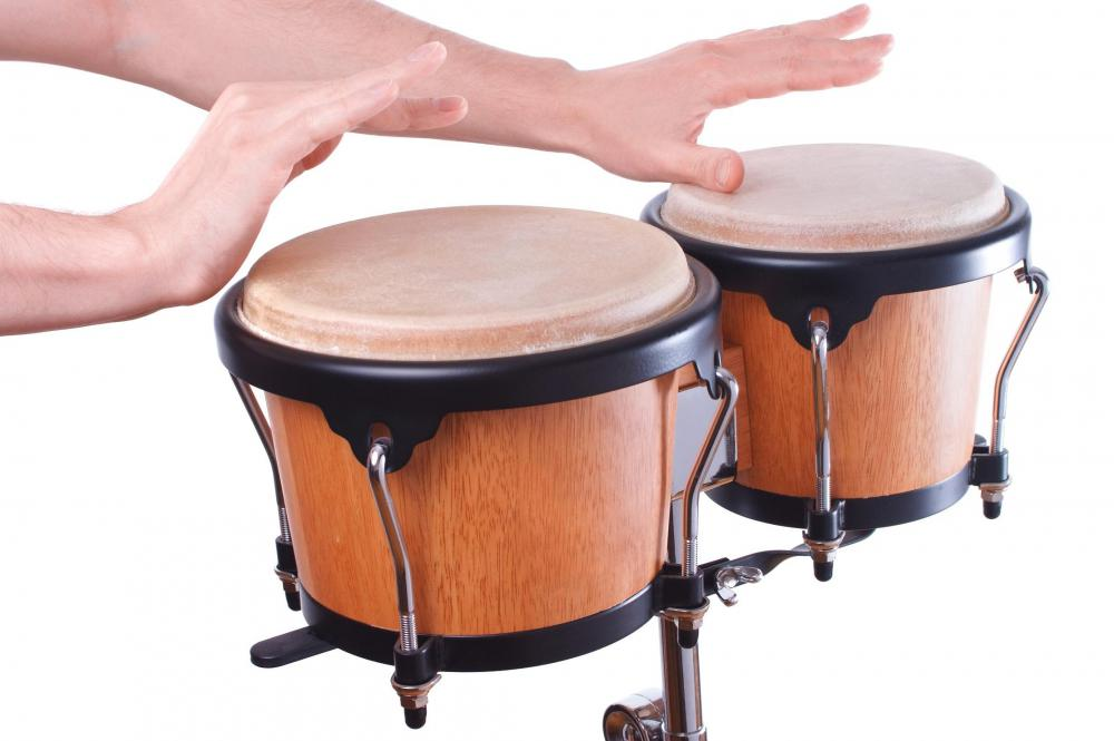 Latin music often uses bongo drums.