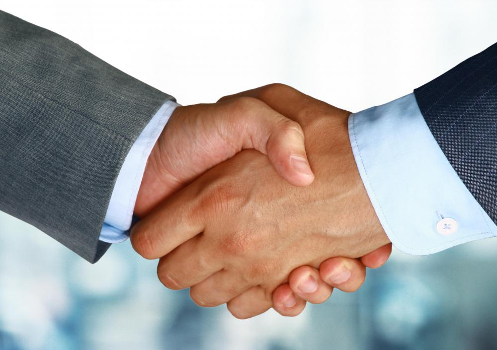 Oral condolences are often accompanied by a handshake.
