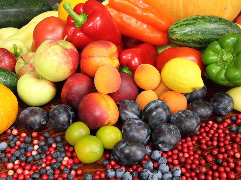 Anthocyanins give red, blue, and purple fruits their color.