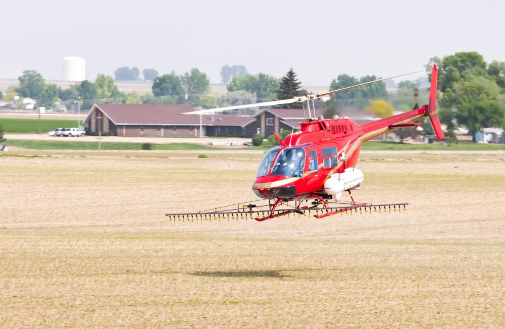 Helicopters may be used for spraying crops and tracking animal herds on farms.