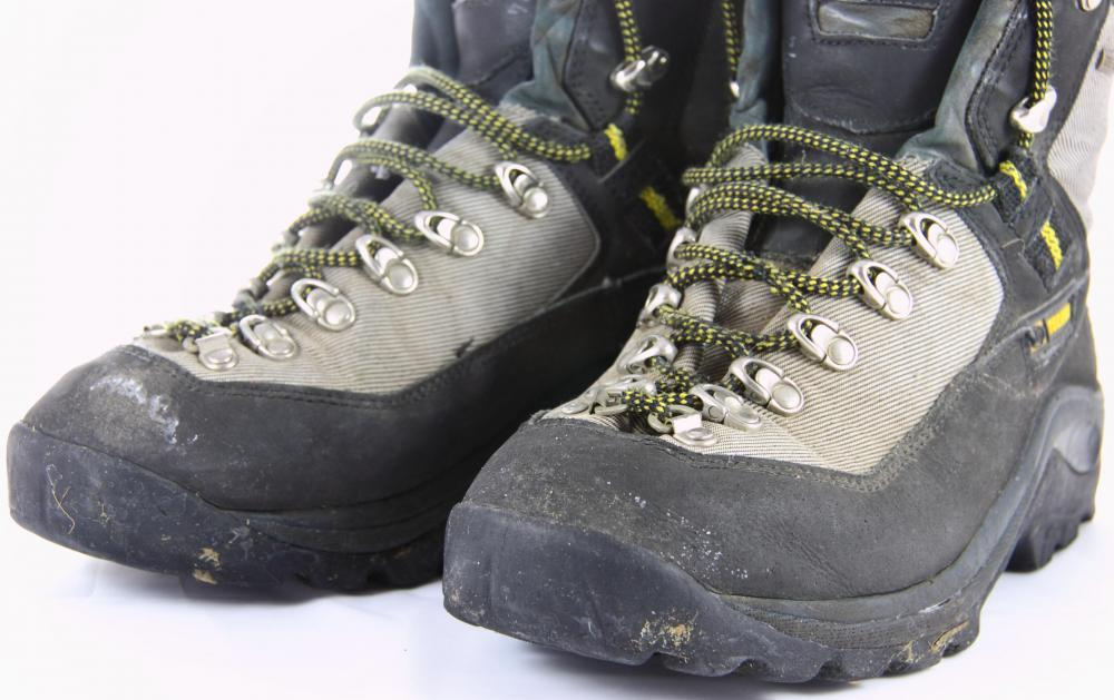 Water resistant boots are great for hiking.