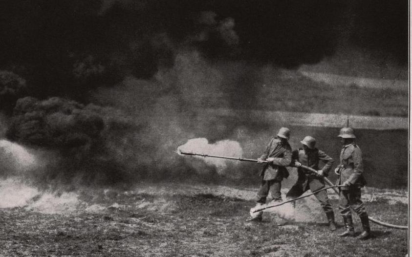 Flamethrowers were first used by the German army to clear out trenches during World War I.