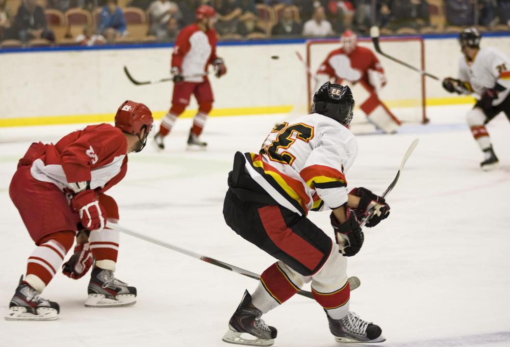 A hockey team may engage in a five-minute overtime period if a game is tied.