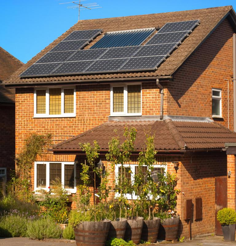 "People who wish to live ""off the grid"" can install solar panels to power their home."
