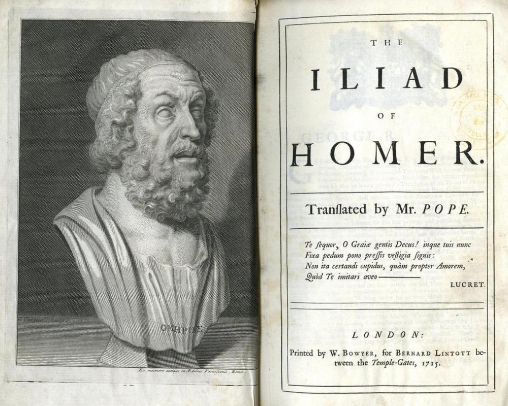 "A Homeric simile was first used in the epic poem the ""Iliad""."