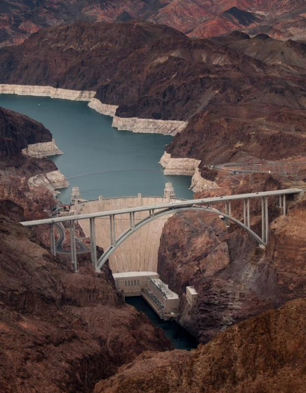 Though now surpassed, the Hoover Dam was the world's largest concrete structure when it was completed in 1935.