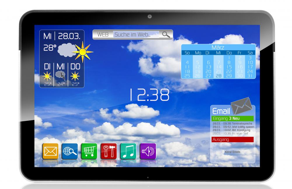 A tablet using 4G mobile technology.