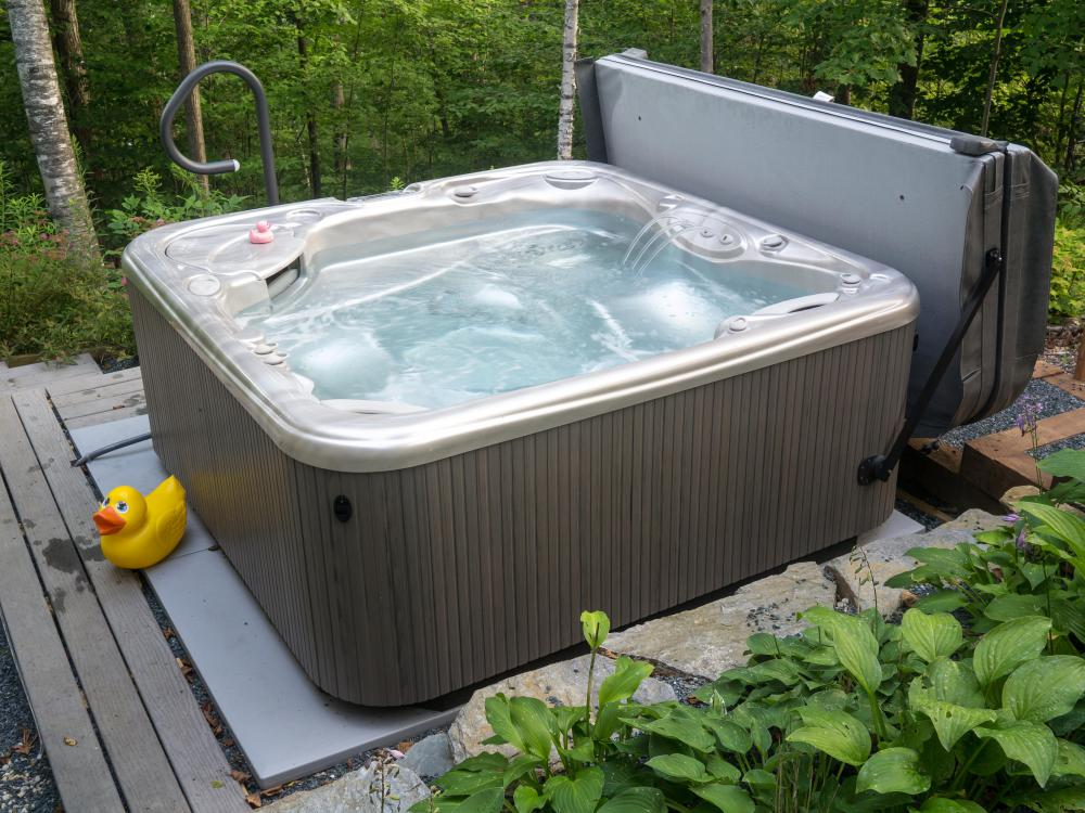 Cottage suites may include a private hot tub.