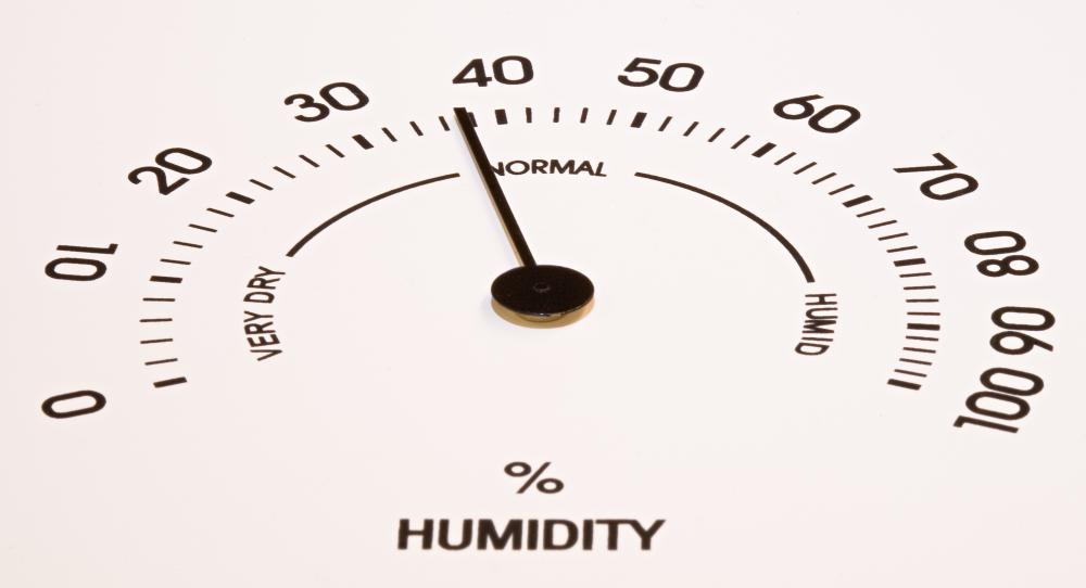 Relative humidity is determined by the amount of moisture in the air versus how much the air is capable of holding at that specific temperature.