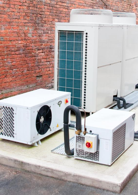 Pieces of industrial air conditioning equipment are frequently installed at external locations, like rooftops.