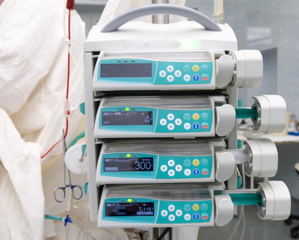 Bolus equipment may include an infusion pump.