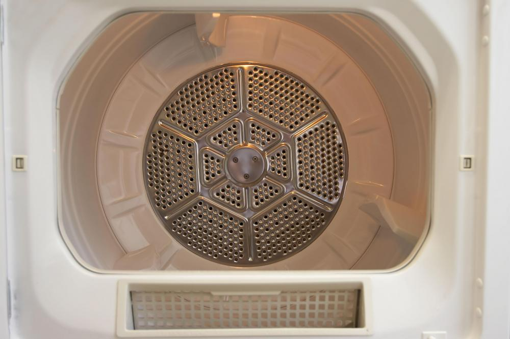 Inside a clothes dryer.