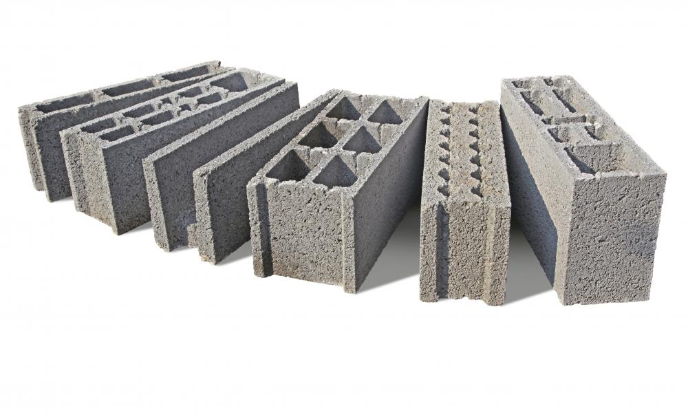 Cinder blocks that are reinforced with steel and concrete are often used in home stem wall construction.