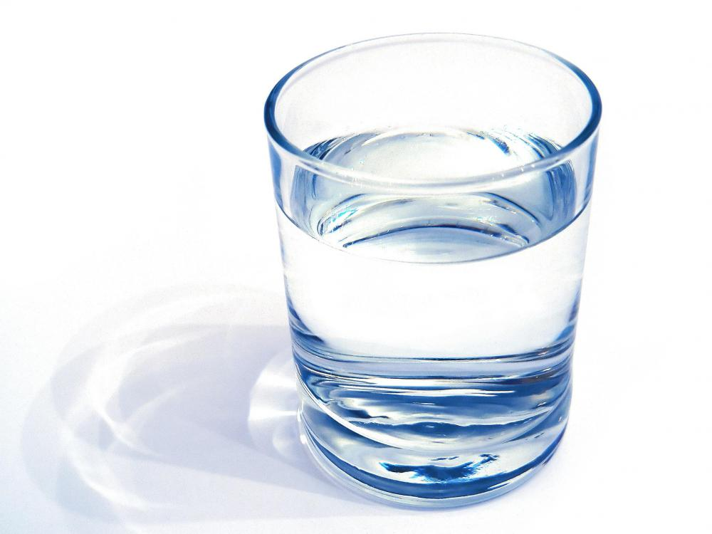 The average person should drink eight 8-ounce glasses of water each day.