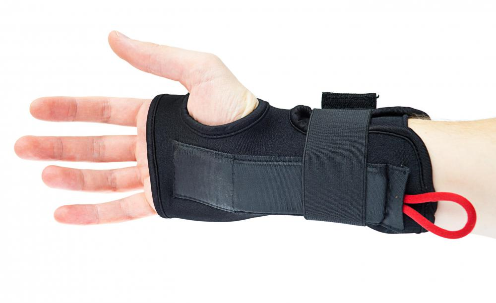 Wrist braces may help take the strain out of repetitive tasks.