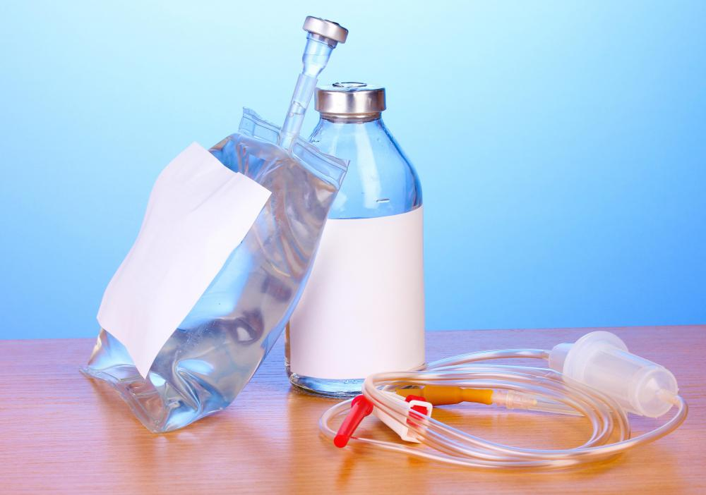Intravenous antibiotics are often piggybacked.