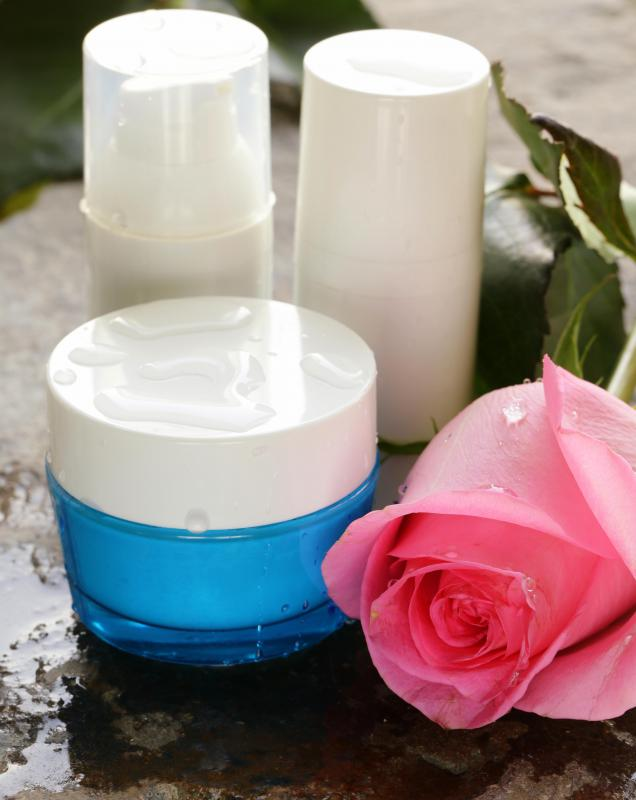 Rosewater is a common ingredient in clarifying lotions and toners.