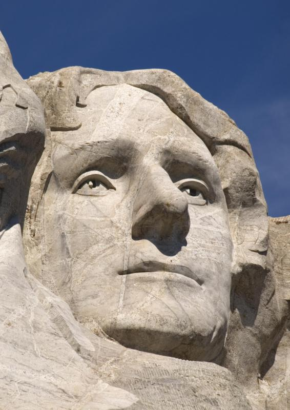 Thomas Jefferson at Mount Rushmore.