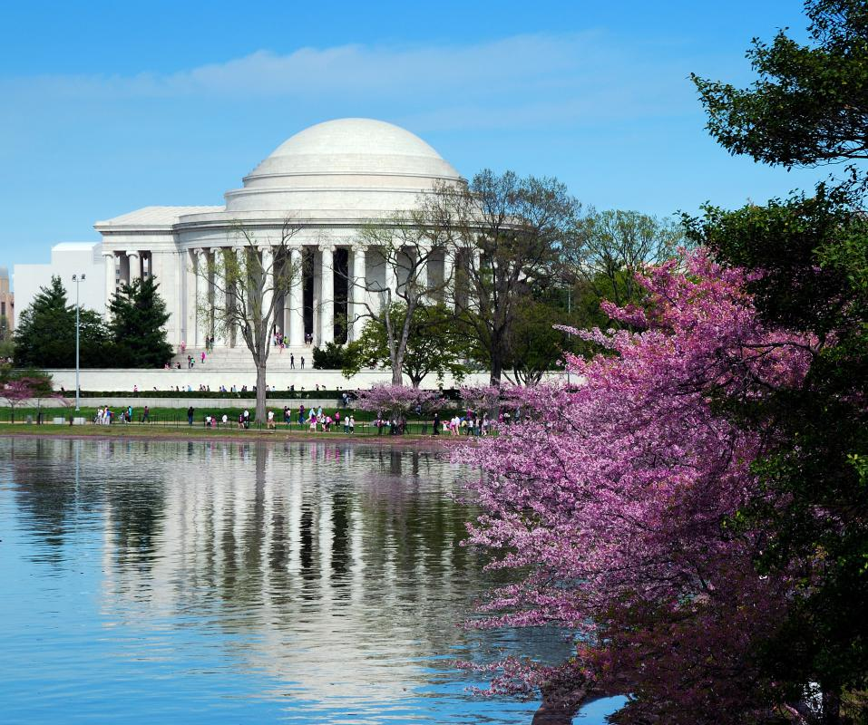 The Jefferson Memorial in Washington DC is an example of neoclassical architecture.