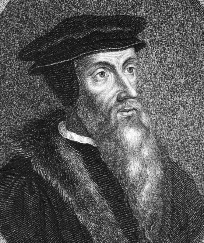 John Calvin dismissed the authenticity of pieces of Christ's crown of thorns and cross used as popular relics in his time.