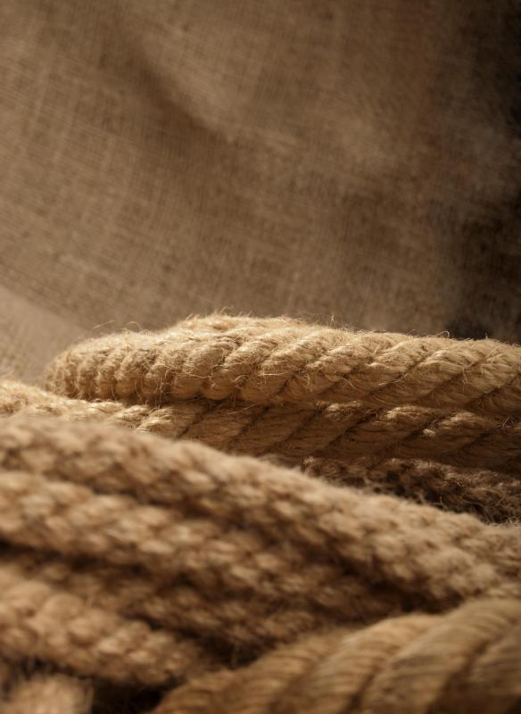 Rope is often made using naturally strong jute fibers.