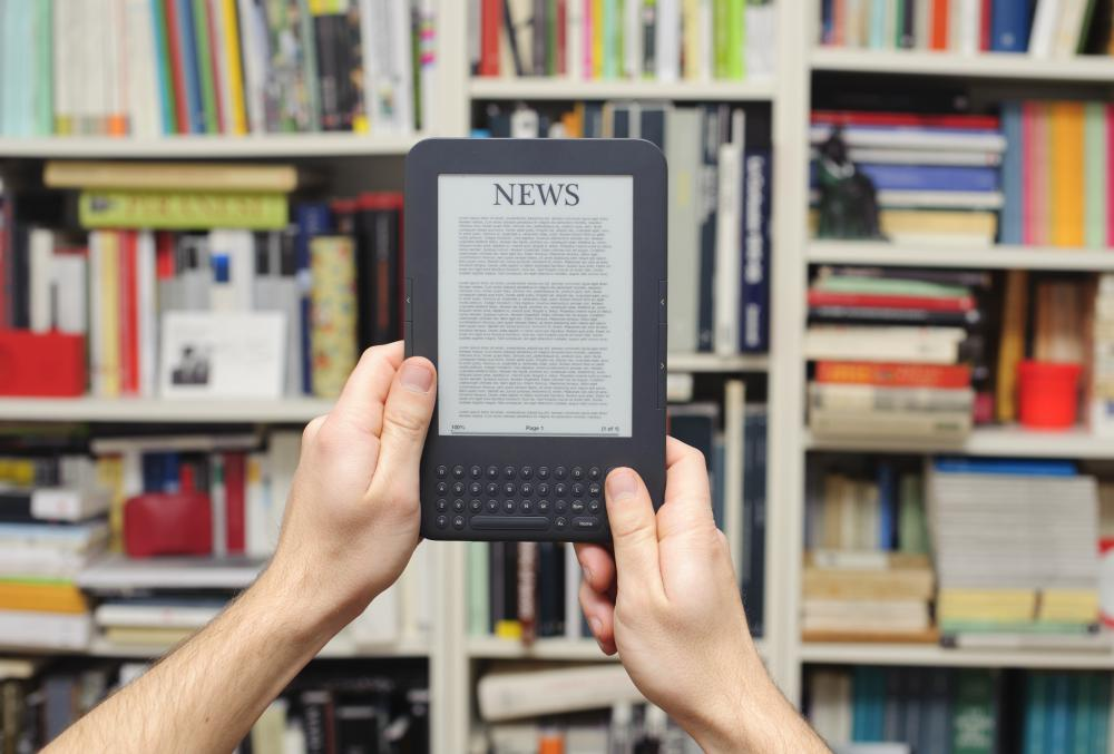 E-reader devices allow individuals to download and read electronic books.