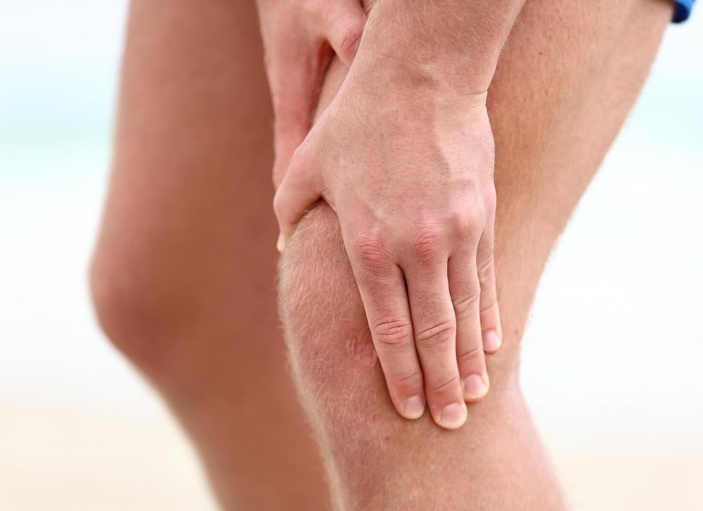 A patient with knee pain may undergo an MRI to enable a doctor to make a diagnosis.