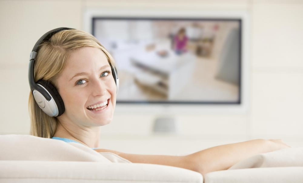 Wireless headphones may be used to listen to television audio without disturbing others.