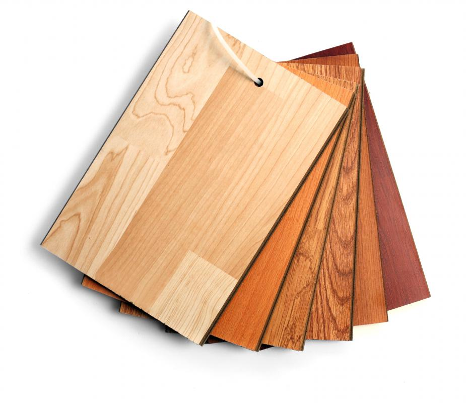 Chemical resin is often used in laminate flooring.
