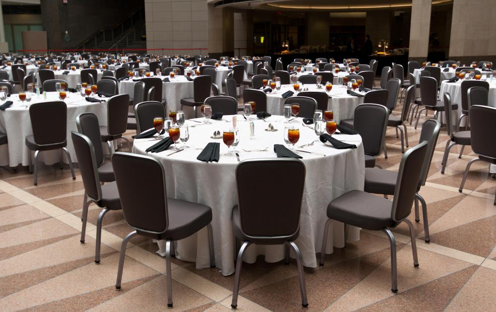 Indoor wine festivals may be held in large banquet rooms.