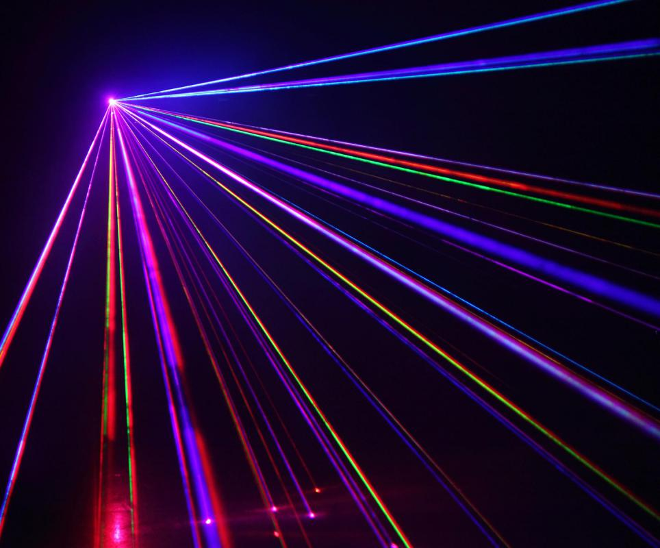 DMX technology be used to control the lighting in a laser show.