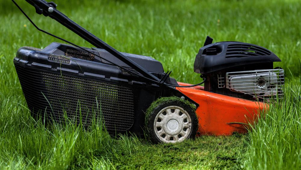 Lawn mower decks prevent the spinning blade from projecting objects.