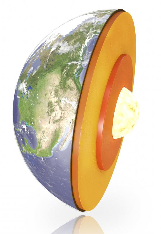 The Earth's inner core of iron remains solid because it is under extreme pressure.